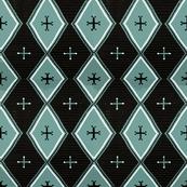 Southwest Diamonds Cross - Blue Green