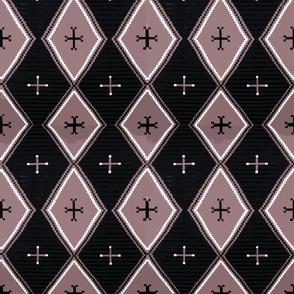 Southwest Diamonds Cross - Rose