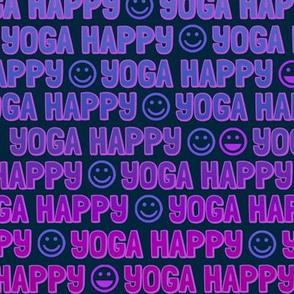 yoga happy faces - mountain