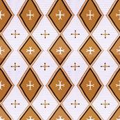 Southwest Diamonds Cross - tan