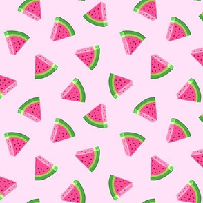 (small scale) watermelons (pink)- summer fruit fabric - LAD19