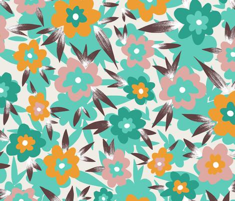 F1058_MosaicFloral_vintage fabric by elizabethhalpern on Spoonflower - custom fabric