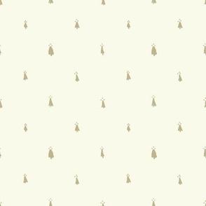 Heraldic Ermine Dots in Ivory