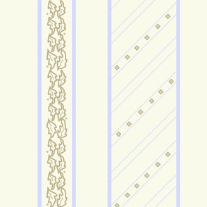 Tabard Border Print on Ivory