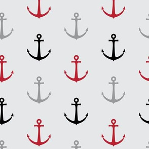 anchors - multi red and black - LAD19