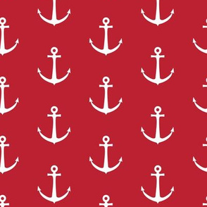 anchors - red nautical - LAD19