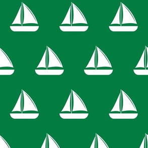 sailboats - nautical - green LAD19