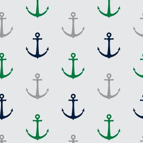anchors - multi green and navy - LAD19