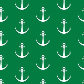 anchors - green nautical - LAD19