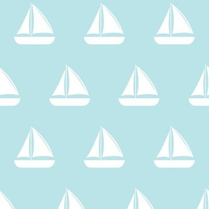 sailboats - nautical - blue  LAD19