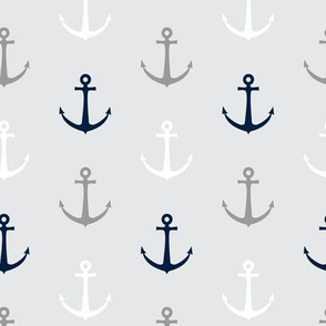 anchors - multi grey and navy - LAD19
