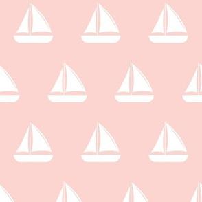 sailboats - nautical - pink  LAD19