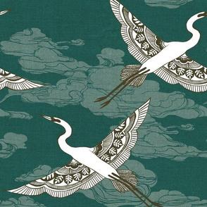 Egrets {Turquoise}