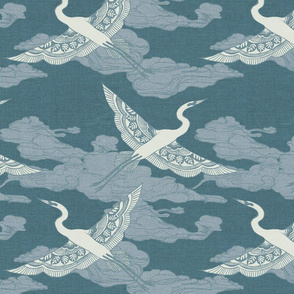 Egrets {Antique Blue}
