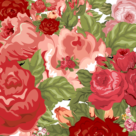 Rose Garden fabric by sewingpatternbee on Spoonflower - custom fabric