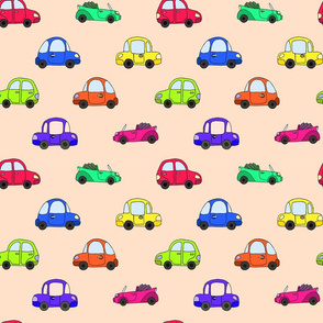 cartoon colorful retro car