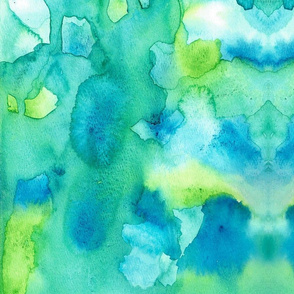 Green Blue Abstract