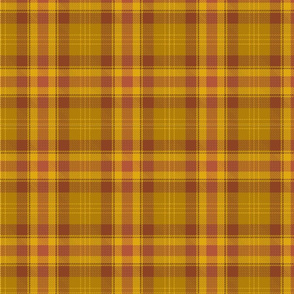 Brown, orange and yellow plaid.