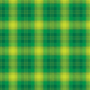 Green plaid.
