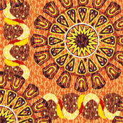 Bohemian Rosettes and Borders Chocolate Browns and Lemons
