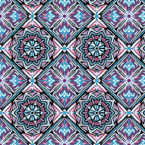 Pysanky Pink and Blue