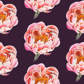 Dreamy Peony in Mulberry
