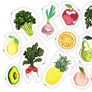 Plush Produce Cut  and Sew Pattern