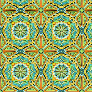 Pysanky Green and Orange