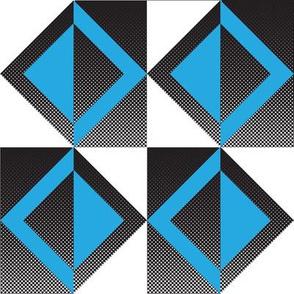 Mid-Century Blue Squares
