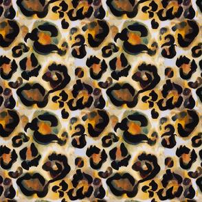 Watercolor Leopard Animal Print