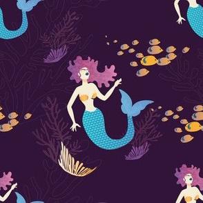 Magical Mermaid in the Sea