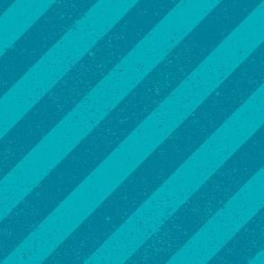 Diagonal Spatter Stripe Aqua