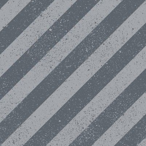 Diagonal Spatter Stripe Grey