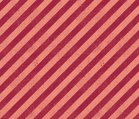 DiagonalSpatterStripeSalmon fabric by beckarahn on Spoonflower - custom fabric