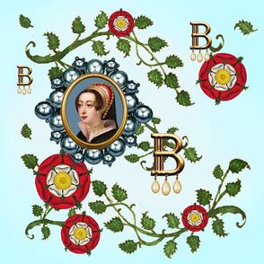 LARGE ANNE BOLEYN PANEL TUDOR ROSES