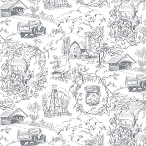 Country Living Toile Medium Gray