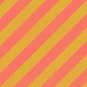 Diagonal Spatter Stripe Coral