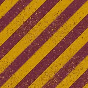Diagonal Spatter Stripe Wizard Scarlet