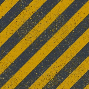 Diagonal Spatter Stripe Wizard Gold