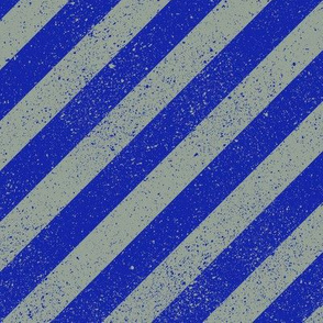 Diagonal Spatter Stripe Wizard Blue