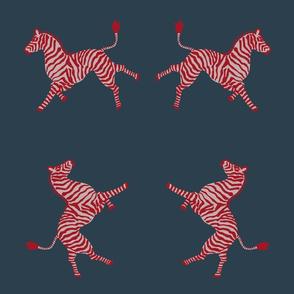 Large zebra red on slate