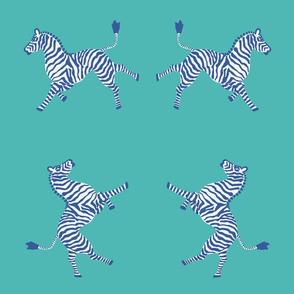 Zebra-navy and turquiose