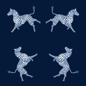 Zebra-navy and blues