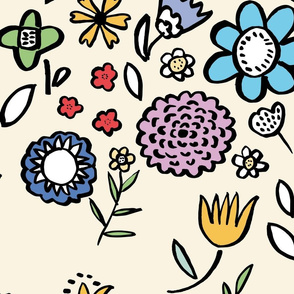 Jumbo scale spring flowers