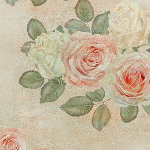 Rustic Rose Wall