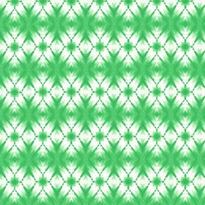 Shibori kaleidoscope in emerald