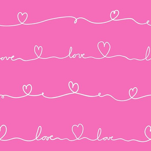 love doodle pink with white