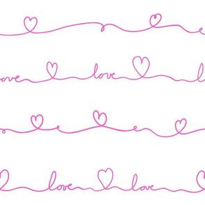 love doodle pink