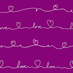 love doodle purple with white