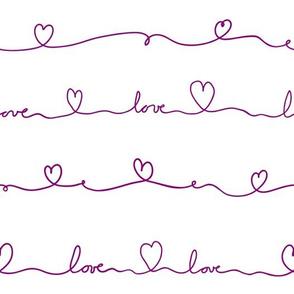 love doodle purple